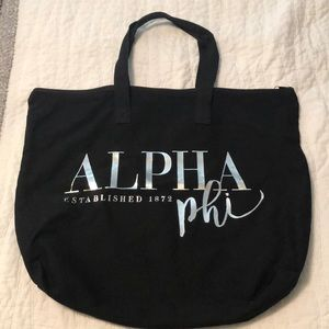 Alpha phi black tote
